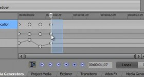 Sony Vegas Pro 11, using keyframe animation sites - video tutorial