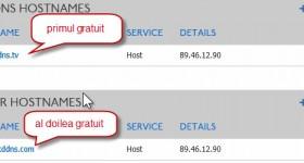 Doua adrese gratuite DynDNS cu setare IP dinamic pentru .tk sau altele – tutorial video