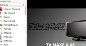 Instalare TV Maxe 0.08 pe Ubuntu pentru posturi TV – tutorial video