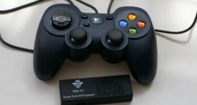 MK908 + + OnLive gamepad, konsoll-spill på TV