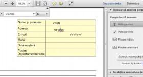 Cum se completeaza formularele si bifele din fisiere PDF