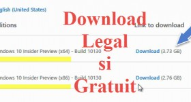 Windows 10 legal si gratuit, in programul Windows 10 Insider