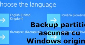 Backup recovery partition