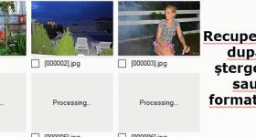 Återställa oavsiktligt raderade bilder och filer
