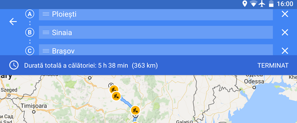 Custom navigation route with several stops on Android
