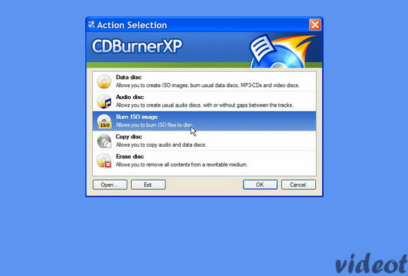How and label a CD or DVD with CDBurnerXP