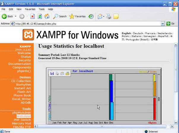 Installation and setup XAMPP apache php mysql server containing and