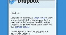 23 extra GB on Dropbox, besides the space that we have already - video tutorial