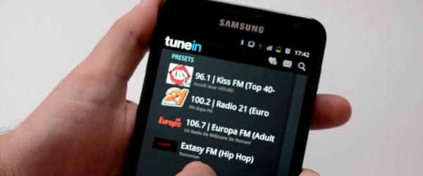 TuneIn, posturi radio online, alarma radio, oprire programata, pentru telefoane Android – tutorial video