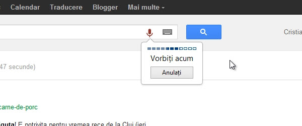 Romanian Chrome Voice Search and Voice Search extension