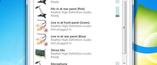 Inregistrarea sunetului din orice sursa fara pierderi cu stereo mix – tutorial video