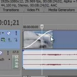 Sony Vegas Pro 11, transitions, cutting and typing in video - video tutorial
