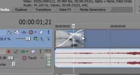 Sony Vegas Pro 11, tranzitii, taiere si introducerea textului in video – tutorial video