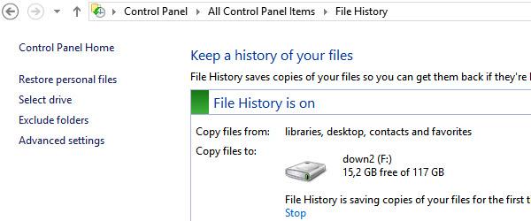 File History, salveaza si recupereaza fisiere in Windows 8 – tutorial video