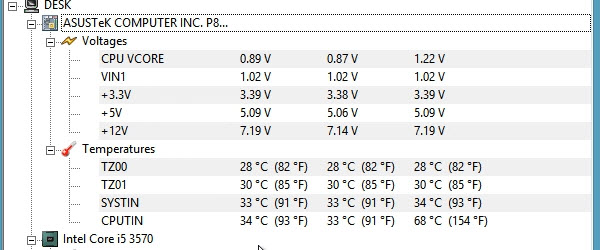 Hardware Monitor, citirea in timp real a voltajului si temperaturii componentelor din pc – tutorial video