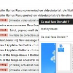 Ett nytt inslag pop-up från Gmail webmail multitasking - video tutorial