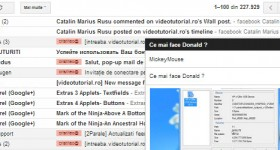 Novinkou pop-up od Gmail webmail multitasking - výukové video