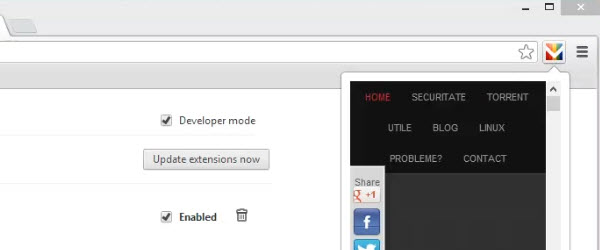 Cum facem o extensie pentru browserul Google Chrome, ghid pentru incepatori