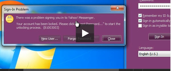 Cum sa prevenim pierderea contului Yahoo Messenger – tutorial video