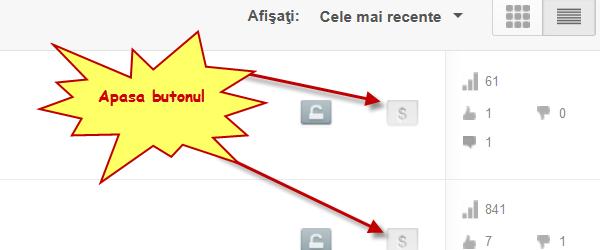 Cum putem castiga bani din postarile si vizualizarile de pe YouTube – tutorial video
