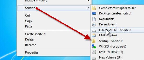 Pornirea automata a programelor si modificarea meniului Send to pe Windows – tutorial video