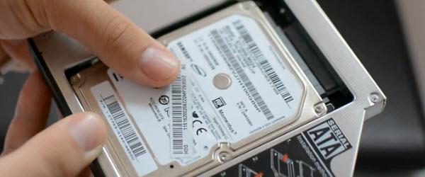 Al doilea hard disk pe laptop in locul unitatii optice