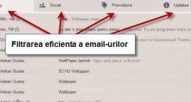 A activação limpa nova caixa de entrada do Gmail triagem em abas