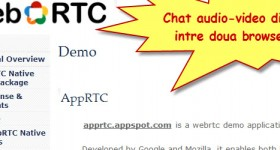 WebRTC, chat video si audio direct in browser fara nicio aplicatie