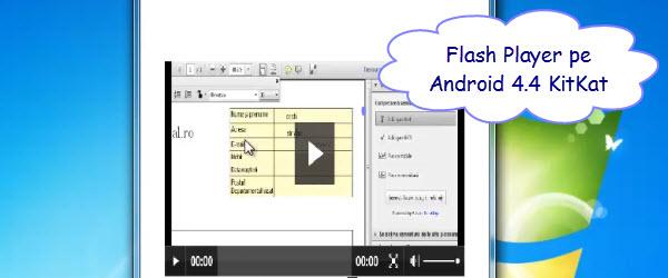 Cum se instaleaza Flash Player pe Android 4.4 KitKat