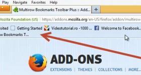 Hvordan legge til to eller flere barer bokmerker i Firefox og Chrome