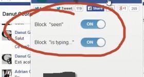 "Cum ascundem statusul ""citit la"" sau ""X tasteaza"" pentru Facebook Chat"