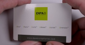Comparatie microfoane, Sony ECM-V1BMP vs DPA 4060