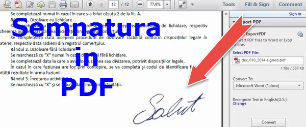 Signer des documents PDF sans imprimante ni scanner