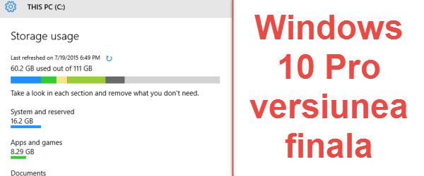 Prezentare Windows 10 pro versiunea finala