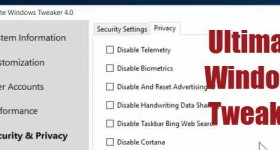 Modify hidden Ultimate Windows Tweaker with Windows 10