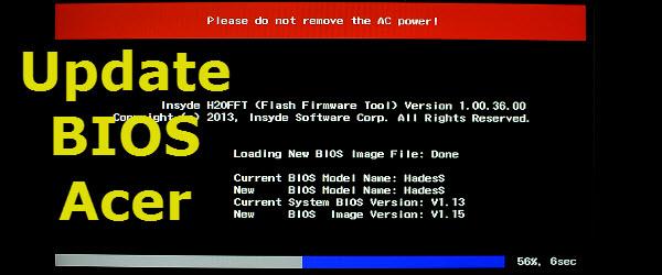 Update BIOS Acer, rezolvare bug ecran negru