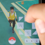 Pokemon GO on the couch, fictitious locations with joystick