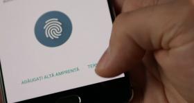 Registrieren von Fingerabdrücken am Telefon