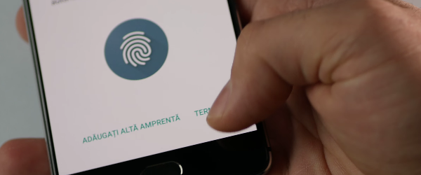 Registering fingerprints on phone