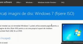 Windows Lejupielādēt saites ISO 7, 8 un 10