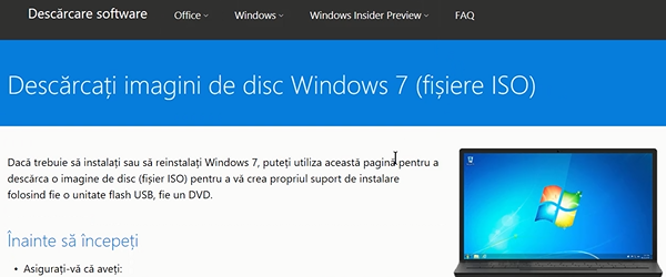 Windows download links ISO 7, 8 and 10