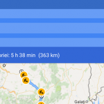 Custom navigace trasu s několika zastávkami na Androidu