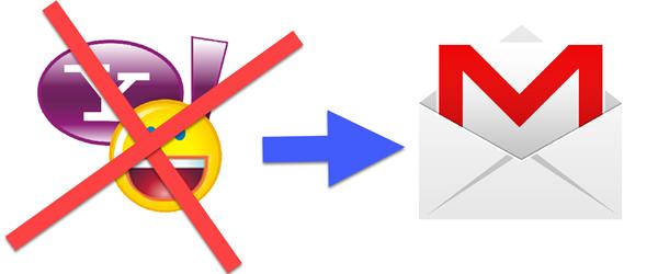 prenos dát z Yahoo Gmail
