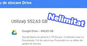 Stocare online NELIMITATĂ pe Google Drive