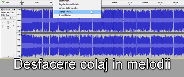 How to break up an audio collage of songs