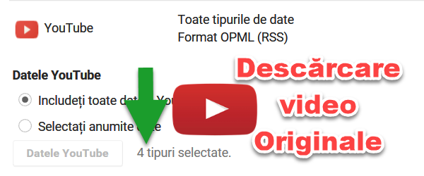 Download canal YouTube cu toate fișierele ORIGINALE