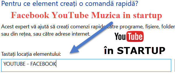 Otomatis awal YouTube, Facebook, file startup Windows