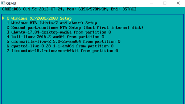 2 Sistemi Operativi Mettendo Il Bastone Vedi Video Tutorial 3 Test Qemu Chiavetta USB Con Un Emulatore Incluso WinSetupFromUSB