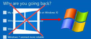 Windows turun taraf ke Windows 10 7, 8 atau 8.1