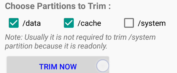 How do Android phone faster with TRIM